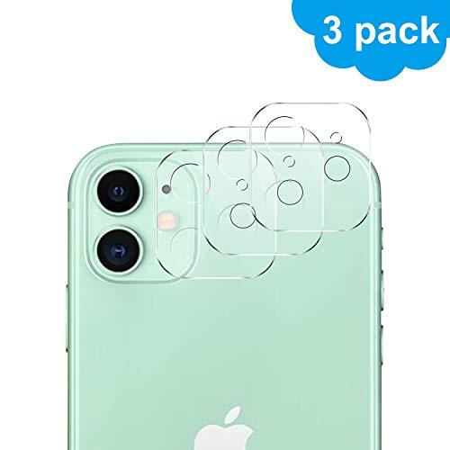 Luibor für iPhone 11 Kamera Panzerglas 3 Stück,Transparent Anti-Kratzer Anti-Staub Kameraschutzhülle für iPhone 11