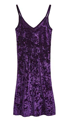 CityComfort Nachthemden für Damen Elegante Dessous Negligee Nachthemden | Nachtwäsche mit V-Ausschnitt, Dunkellila, 38 (Herstellergröße: 10)