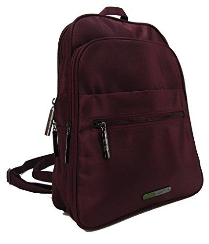 STEFANO moderner Frauen Rucksack Daypack Bodybag Schultertasche Cityrucksack Damen Tasche Verschiedene Modelle (M1 Bordeaux)