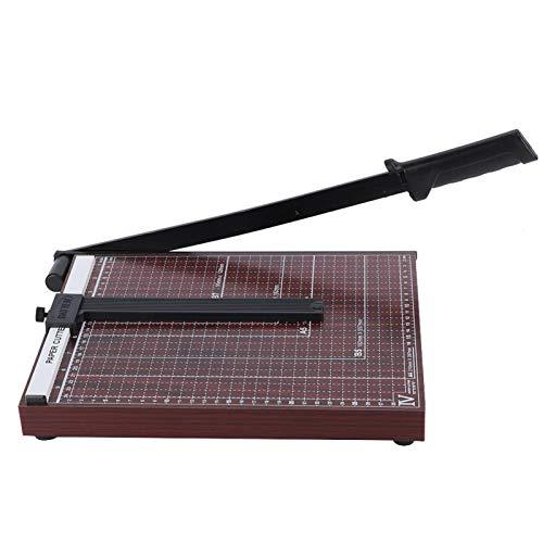 Multifunktions-Schreibtisch-Papierschneider, weinrote Holzbasis A4 / B5 / A5 / B6 / B7 Papierschneider Fotoschneider Schneidschneidewerkzeug