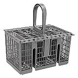 DL-pro Cesta de cubiertos para cesta inferior de 20,8 x 16 cm para Bauknecht Whirlpool Ikea 488000386607, cesta para cubiertos para lavavajillas WFC WIC WBC