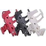 Portabottiglie per Bicicletta, Supporto per Borraccia, Girevole a 360 Gradi Red