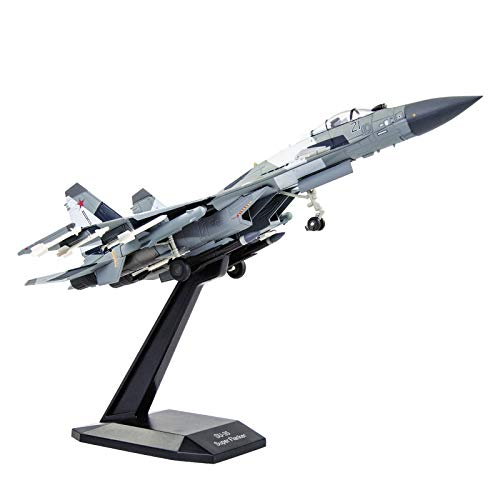 1/100 Scale SU-35 Attack Plane Metal Fighter Military Model Fairchild Republic Diecast Plane Model for Commemorate Collection or Gifts