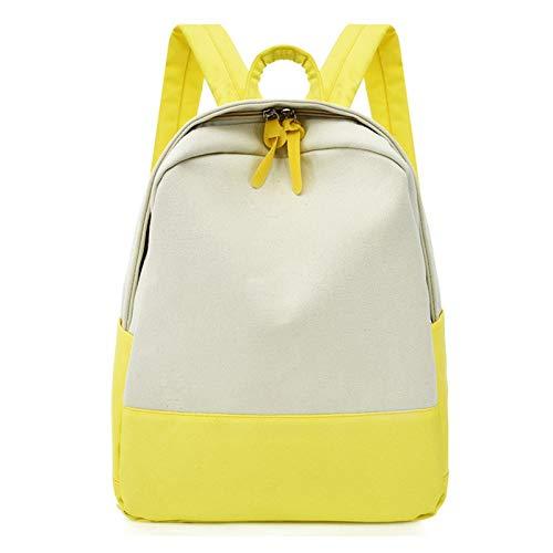 BDLEZI Mochila Textil Bolsa de Viaje al Aire Libre Oxford de Las Mujeres del Estilo de la Universidad Bolsa de la Escuela Secundaria Estudiante de Secundaria de Gran Capacidad (Color : Yellow)