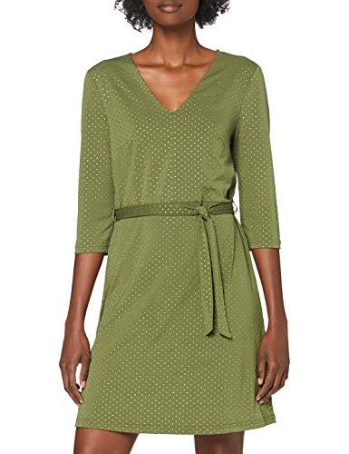 VERO MODA Damen VMLINA 3-4 WRAP Short Dress FR LCS Kleid, Ivy Green/Detail:Gold Studs, M