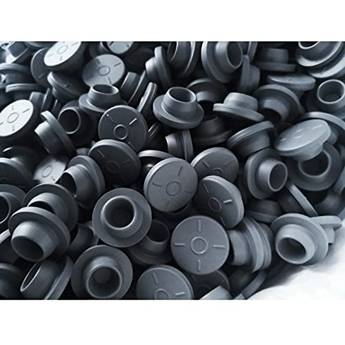 N1N1-100pcs 20mm Grey Color Butyl Rubber Stopper Medical Rubber for Vials Rubber Self Sealing Injection Vials Stopper Rubber Cap
