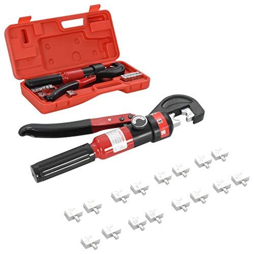 vidaXL Crimpzange Presszange Rohrpresszange Crimpwerkzeug Kabelschuhzange Kabelschuh Zange 4-60 mm² für Verbundrohr Kupferrohr Hydraulisch