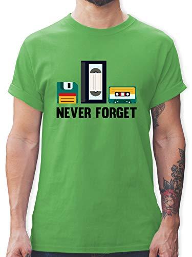 Nerds & Geeks - Never Forget - L - Grün - Nerd - L190 - Tshirt Herren und Männer T-Shirts
