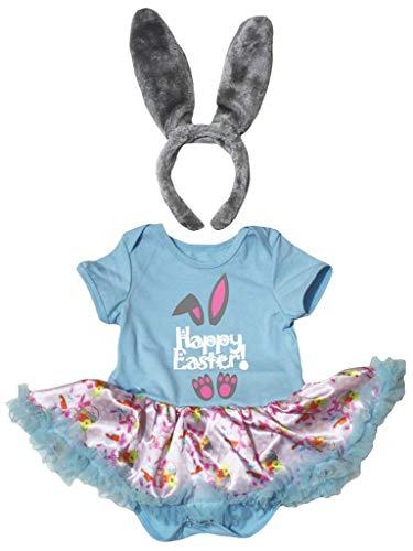 Petitebelle Happy Osterhasen-Body mit rosa Kaninchen, 18 m, Blau Gr. 86, blau