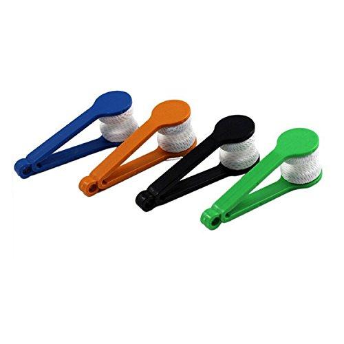 HUI JIN Kit de 5 limpiadores de cristales para gafas, kit de limpiador de gafas de sol, limpiador de gafas de microfibra para gafas y gafas