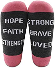 MBMSO Beat Cancer Socks 2 Pairs Breast Cancer Awareness Sock Chemo Patient Gift
