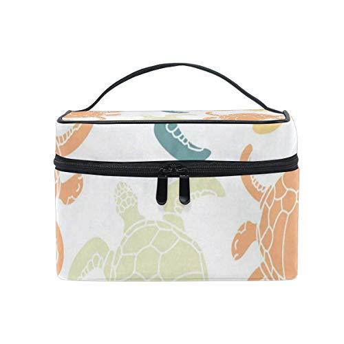 Sac de maquillage Turtle coloré Cosmetic Bag Portable Grand Trousse de toilette pour femmes/filles Voyage