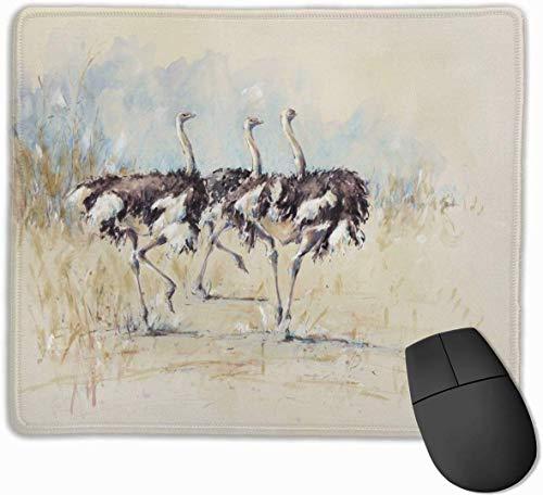 Struisvogel Schilderij Hardlopen Niet-kind Gepersonaliseerde Gaming Mouse Pad Rechthoek Mousepad Art Mat