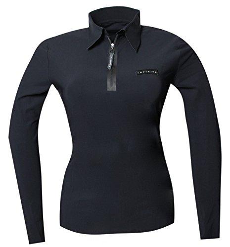 INFINITOITALY Polo Shirt Lasercut Damen (Schwarz, S)