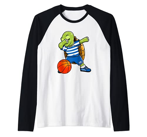 Dabbing Turtle Grecia Jersey Griego Baloncesto Fans Sport Art Camiseta Manga Raglan