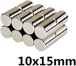 10pcs 10 x 15mm N35 Strong Neodymium Magnets 10mmx15mm Automobile Engine Oil Filter Strong Magnet Economizer Craft : Gold