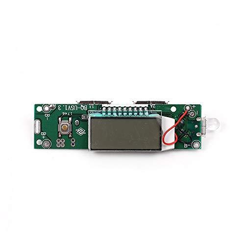 WULE-RYP 2.1A 1A 2A 18650 Mobile Power Bank Cargador Módulo LCD 5V batería de Litio de Carga Doble del USB for el teléfono Elegante