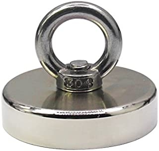for Retrieving in River and Mag 17 KG Pulling Forces with Countersunk Hole Eyebolt Diameter 0.99 inch Rare Earth Magnets with Eyebolt 50 LB Permanent Grtard 8 Pack Neodymium Magnetic Hooks 25 mm