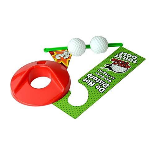Potty Putter Toilette Golf Spiel Mini Golf Set Toilette Golf Putting Neuheit Spiel für Männer Frauen Toilette Unterhaltung Sport Spielzeug - Grün