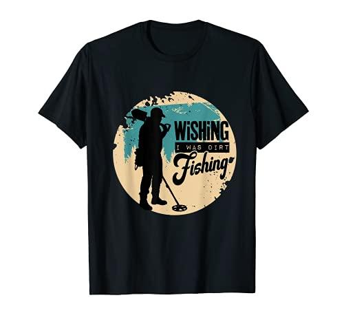 金属探知機検出器 釣り Tシャツ