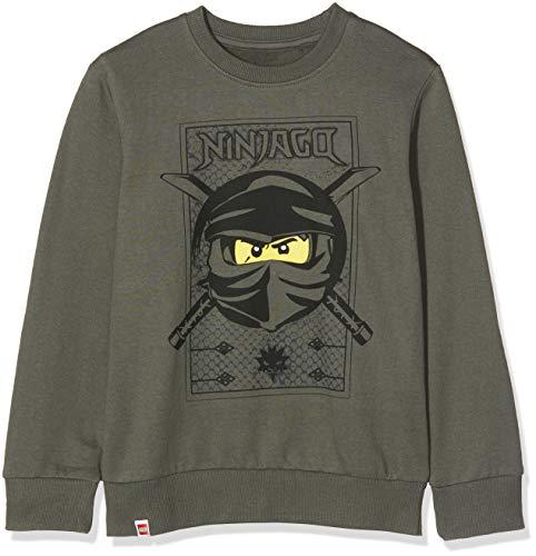 LEGO Jungen CM-50420-SWEATSHIRT Sweatshirt, Grün (Dark Green 883), (Herstellergröße: 110)
