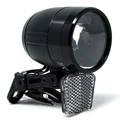 CBK-MS Fahrradlicht LED Scheinwerfer 100 Lux mit Sensor Schalter und Standlicht Fahrradlampe mit StVZO Zulassung