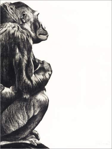 Posterlounge Acrylglasbild 50 x 70 cm: Gorilladame von Rose Corcoran/Bridgeman Images - Wandbild, Acryl Glasbild, Druck auf Acryl Glas Bild