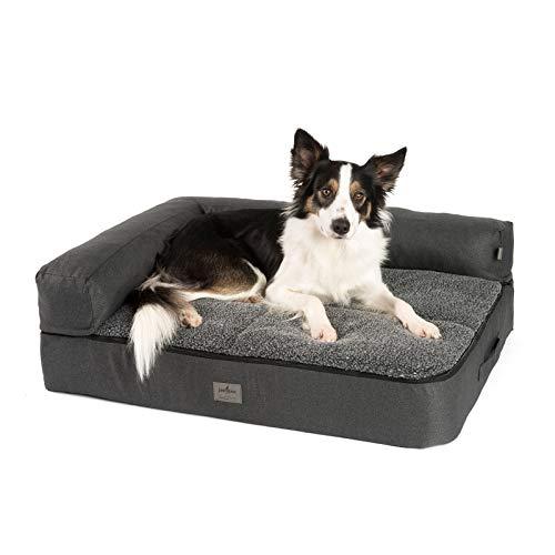 JAMAXX Premium 4-in-1 Hunde-Sofa - Orthopädische Couch mit Memory Visco Schaumstoff,...