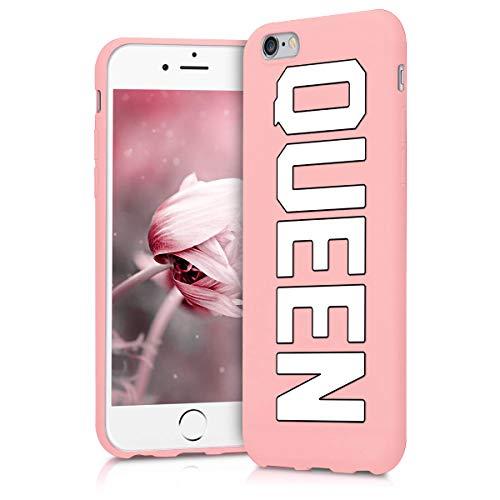 Pnakqil Funda Apple iPhone 6s / 6 Rosa Ultrafina y Ligero Flexible Soft Carcasa TPU Suave Silicona Case Anti Golpes Bumper Protectora Cover para Teléfono Apple iPhone 6s / 6, Reina 02