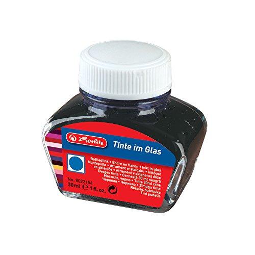 Herlitz 8022154 Tinte im Glas, 30 ml, königsblau