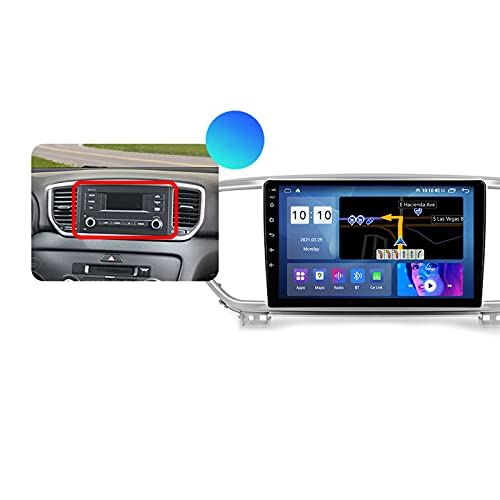 ADMLZQQ Autoradio Coche para Kia Sportage 4 QL 2018 2019 Bluetooth 2 DIN Android Radio De Coche 9'' Pantalla Táctil 5G WiFi Plug and Play Completo RCA Soporte Carautoplay/GPS/Dab+/OBDII,Type a,M600S