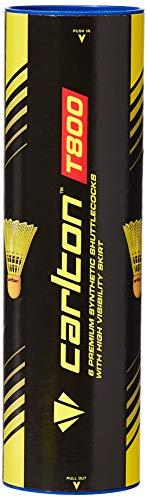 Carlton T800 Volants de badminton, mixtes Jaune Tube de 6