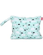 Damero Baby natte droge doek luiertas, herbruikbare natte droge luiertas, reisluier organizer tas voor baby's luiers, vuile kleding en meer (klein, beer)