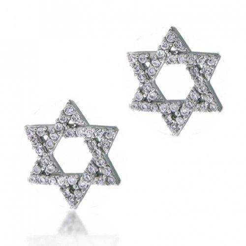 Hanukah Abrir Estrella De David Judía Religiosa Allanar CZ Cubic Zirc