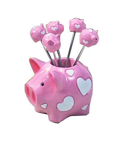 PANDA SUPERSTORE Fashion Creative Gifts Pig Model Fruit Forks Dessert Forks 1 Set