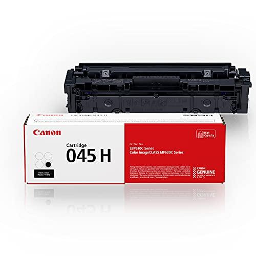 Canon Genuine Toner, Cartridge 045 Black, High Capacity (1246C001), 1 Pack, for Canon Color imageCLASS MF634Cdw, MF632Cdw, LBP612Cdw Laser Printers,High Yield Black