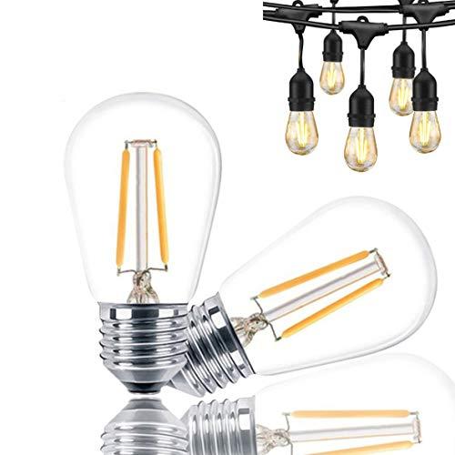 Svater 2 Piezas Bombillas de Filamento LED E27 Lampara Retro Luces Edison 2W Equivalente 20W Bombillo Led Incandescente Color Blanco Cálido 2700K 150 Lúmenes 360 Grados No Regulable