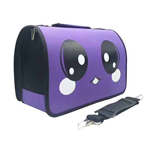 Redcolourful schoudertas, opvouwbaar, ademend, voor katten en honden, maat M, grote ogen, violet