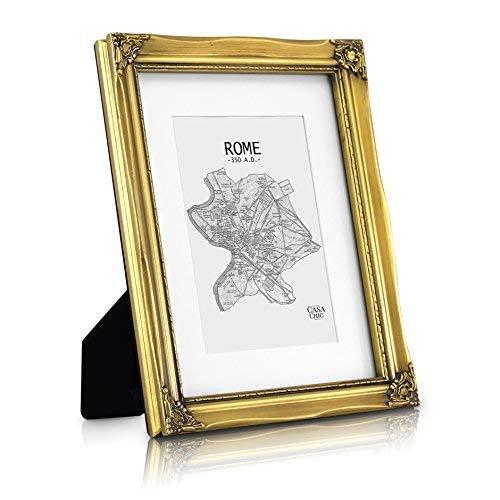 Rococo by Casa Chic Antik A4 Bilderrahmen - Glasfront - mit Passepartout für 15x20 Fotos - 2,5 cm...