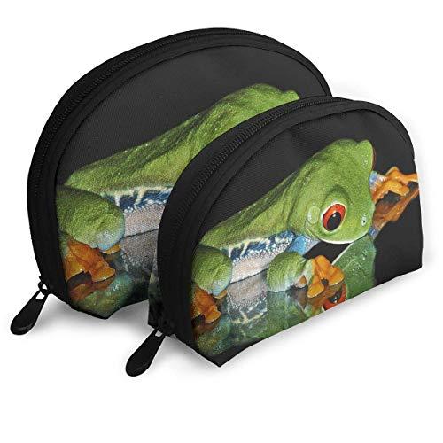 XCNGG Bolsa de almacenamiento Cute Frog Bolso de maquillaje de viaje portátil Impermeable Organizador de artículos de tocador Bolsas de almacenamiento