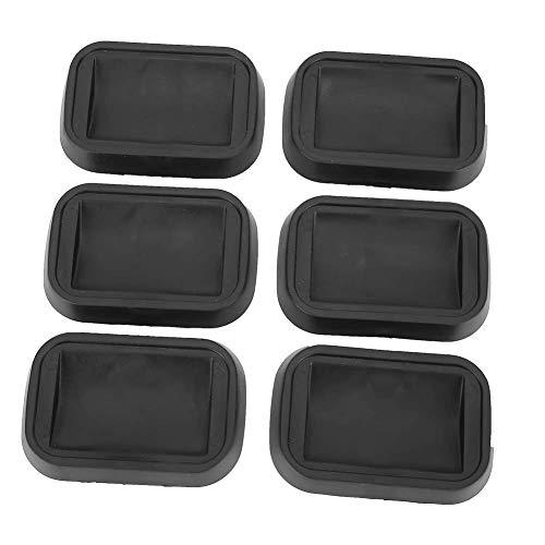 6 piezas/set taza giratoria antideslizante rueda de goma posavasos tazas muebles tazas para sofás camas sillas muebles pisos