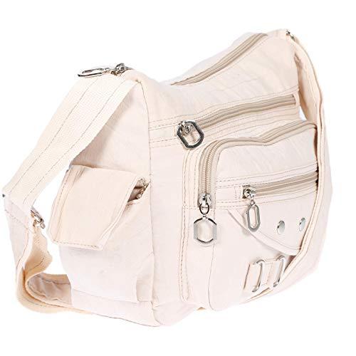 Christian Wippermann Borsa a tracolla da donna in tela shopper Crossover Bag