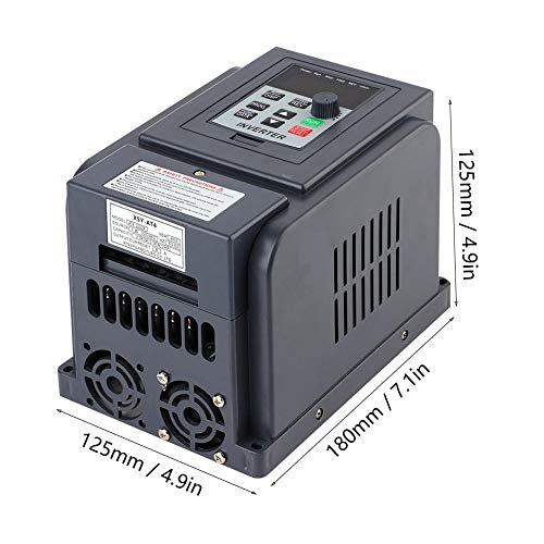 1-Phase 220V Input 3-Phase 380V Output 1.5KW VFD Flame-retardant Shell High Precision Variable Frequency Drive Inverter Speed Controller