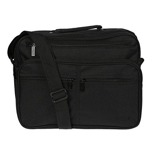 Herrentasche 949 Umhängetasche Allzwecktasche, Handyfach, extra RV-Rückfach schwarz ca.37,0 x 28,0 x20,0 cm