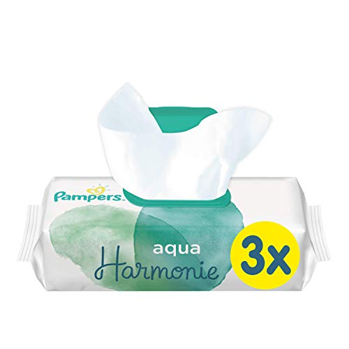 Pampers Aqua Harmonie - Toallitas para bebé, 2 paquetes de 48 (288 toallitas)