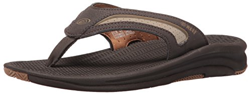 Reef Men's Flex Flip Flop, Dark Brown/Tan, 11