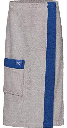 Ladeheid Kilt Toalla de Sauna de Terry Cloth Mujer LA40-194 (Gris11/Azul28, L-XL)
