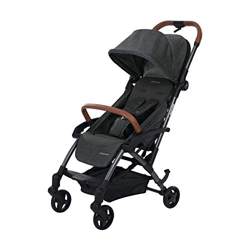 Maxi Cosi Laika Baby-Kinderwagen, ultra-kompakter und federleichter Buggy von der Geburt an, einfacher Faltmechanismus, 0 Monate - 3,5 Jahre, 0 - 15 kg, sparkling grey/grau