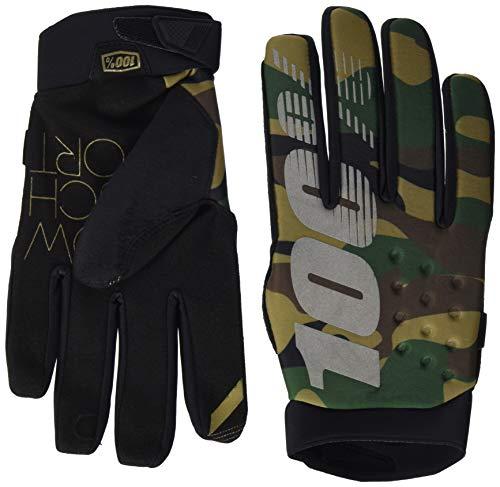 100% Erwachsene Brisker Handschuhe, Camo Schwarz, L