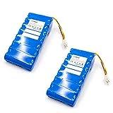 INTENSILO 2X Li-ION Batterie 5000mAh (18V) pour Tondeuse à Gazon Robot Tondeuse Husqvarna Automower...